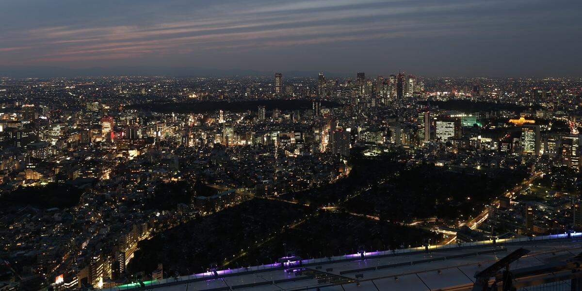 六本木ヒルズ 屋上スカイデッキからの夜景 night view of roppongi hills sky deck (8)