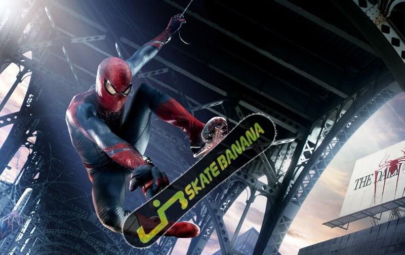 spiderman スパイダーマンがスノボーをやったら