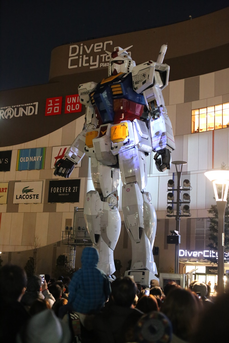 お台場 ガンダム プロジェクションマッピング GUNDAM Projection Mapping Industrial Revolution odaiba (1)