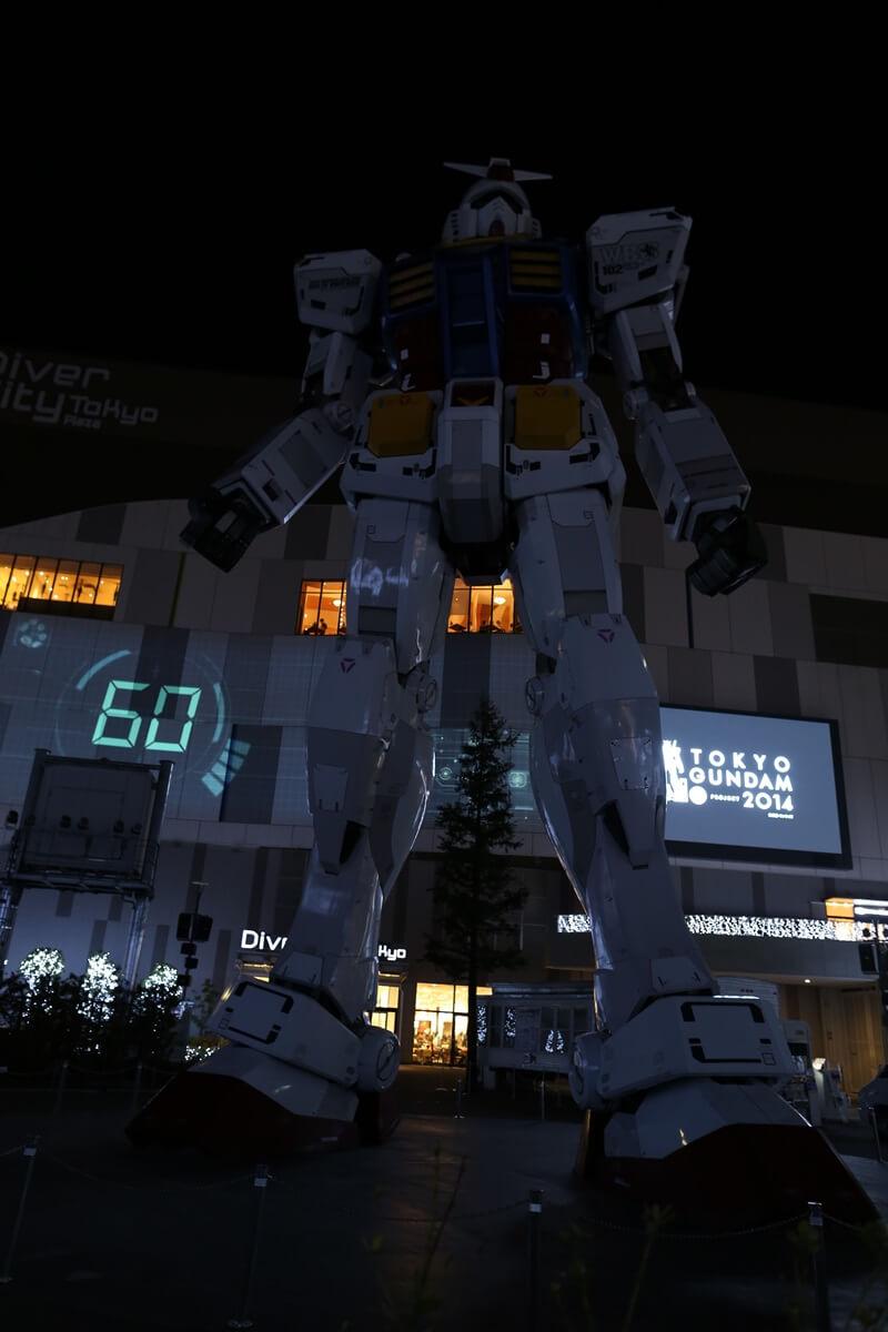 お台場 ガンダム プロジェクションマッピング GUNDAM Projection Mapping Industrial Revolution odaiba (5)