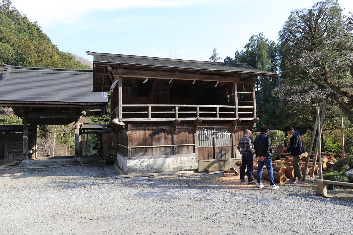賀蘇山神社 神楽殿