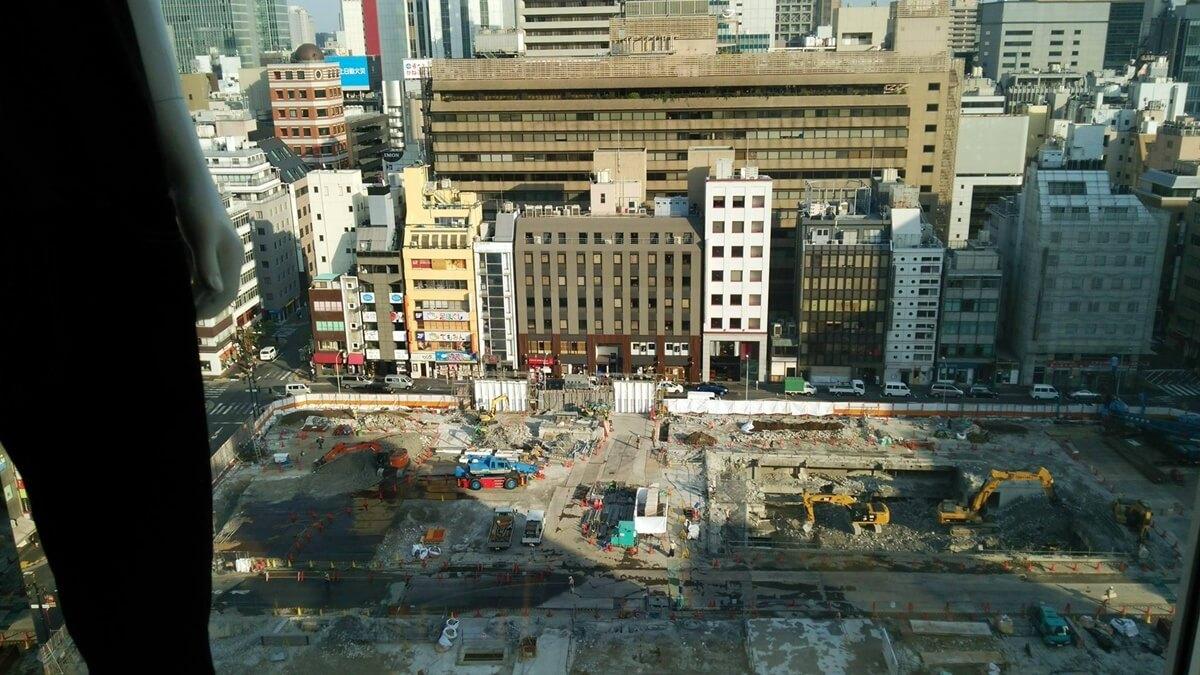 ユニクロ銀座店から松坂屋跡地再開発を観察する。UNIQLO GINZA matuzakayaatichi (2)