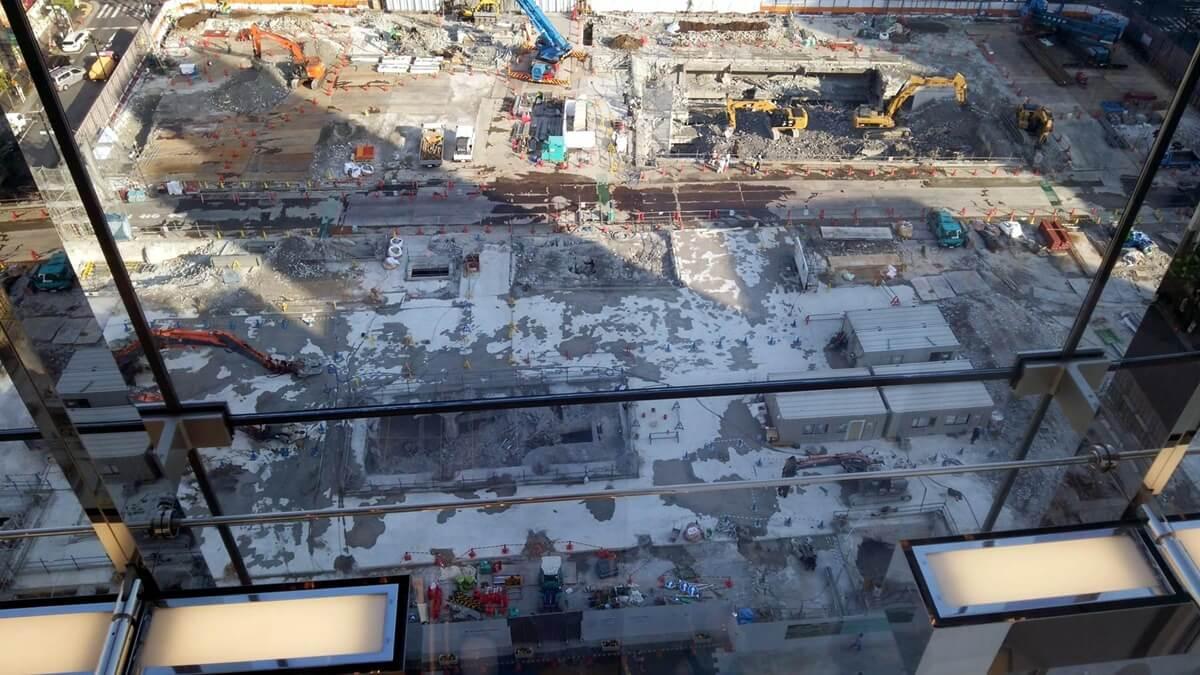 ユニクロ銀座店から松坂屋跡地再開発を観察する。UNIQLO GINZA matuzakayaatichi (3)