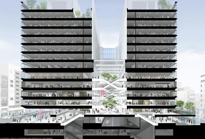 銀座六丁目10地区第一種市街地再開発事業 The construction of the Ginza 6-Chome 10 District Redevelopment