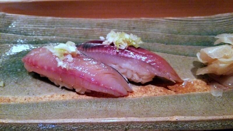 鯵?鰯? 鮨 石島 銀座一丁目 新富町 sushi ishijima (5)