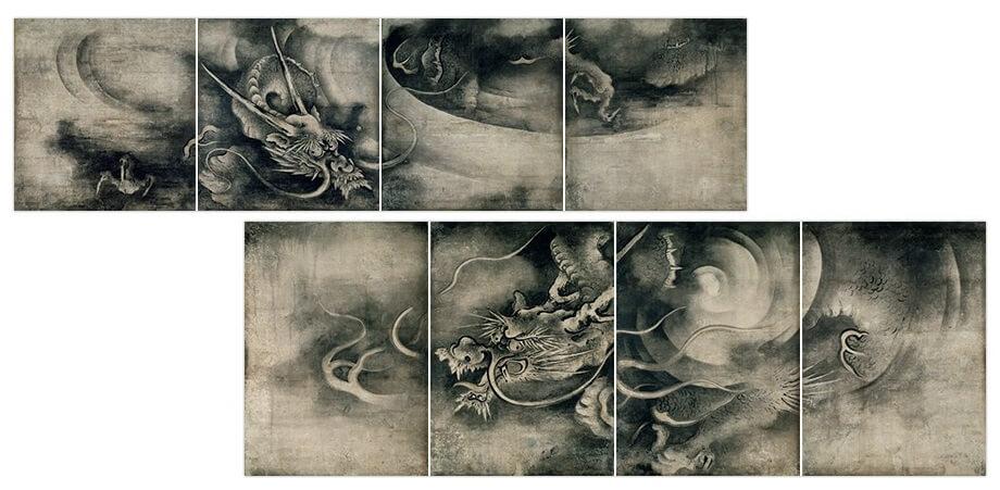 海北友松(かいほうゆうしょう)筆の重要文化財「雲龍図」