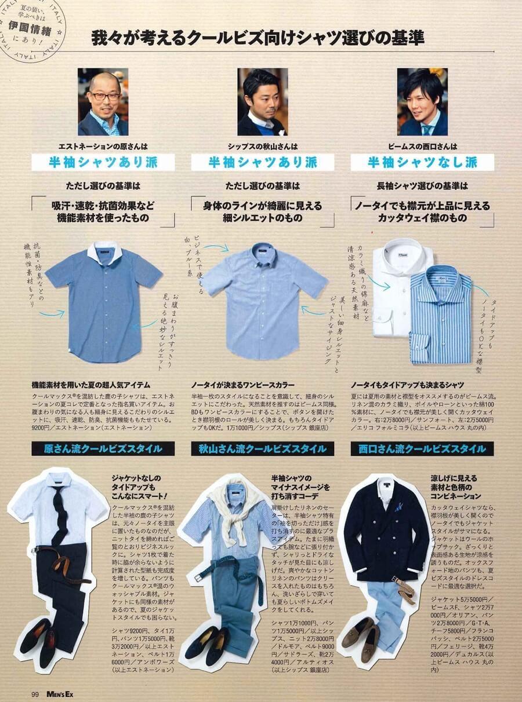 MEN'S EX 2014年6月号 仕事で半そでシャツあり?なし?を徹底討論 (3)