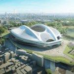 新国立競技場 最新の完成予想図出来た。
