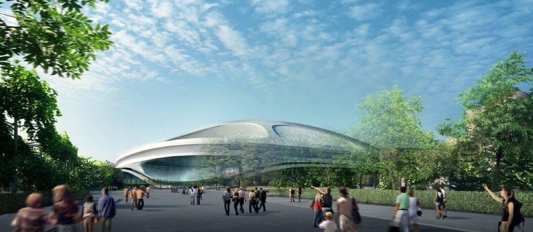 新国立競技場  東側 絵画館前からの外観パース NEW NATIONAL STADIUM JAPAN (2)