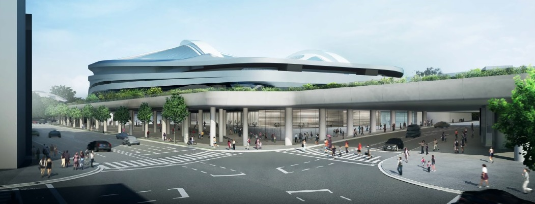 新国立競技場  南西側からの外観パース NEW NATIONAL STADIUM JAPAN (3)