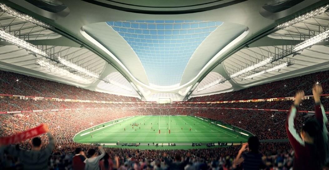 新国立競技場 北側からの内観パース(ラグビー) NEW NATIONAL STADIUM JAPAN (4)
