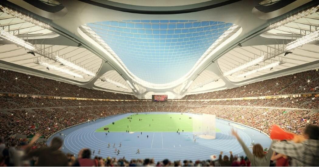 新国立競技場 南側からの内観パース(陸上) NEW NATIONAL STADIUM JAPAN (6)