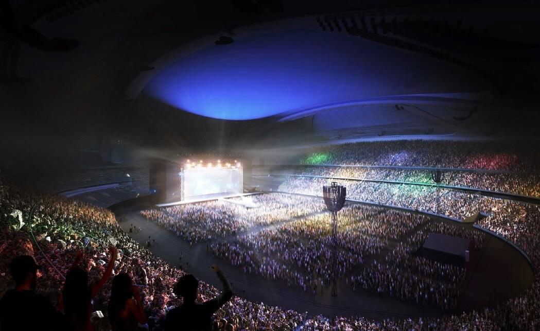 新国立競技場 北東側からの内観パース(文化イベント) NEW NATIONAL STADIUM JAPAN (7)