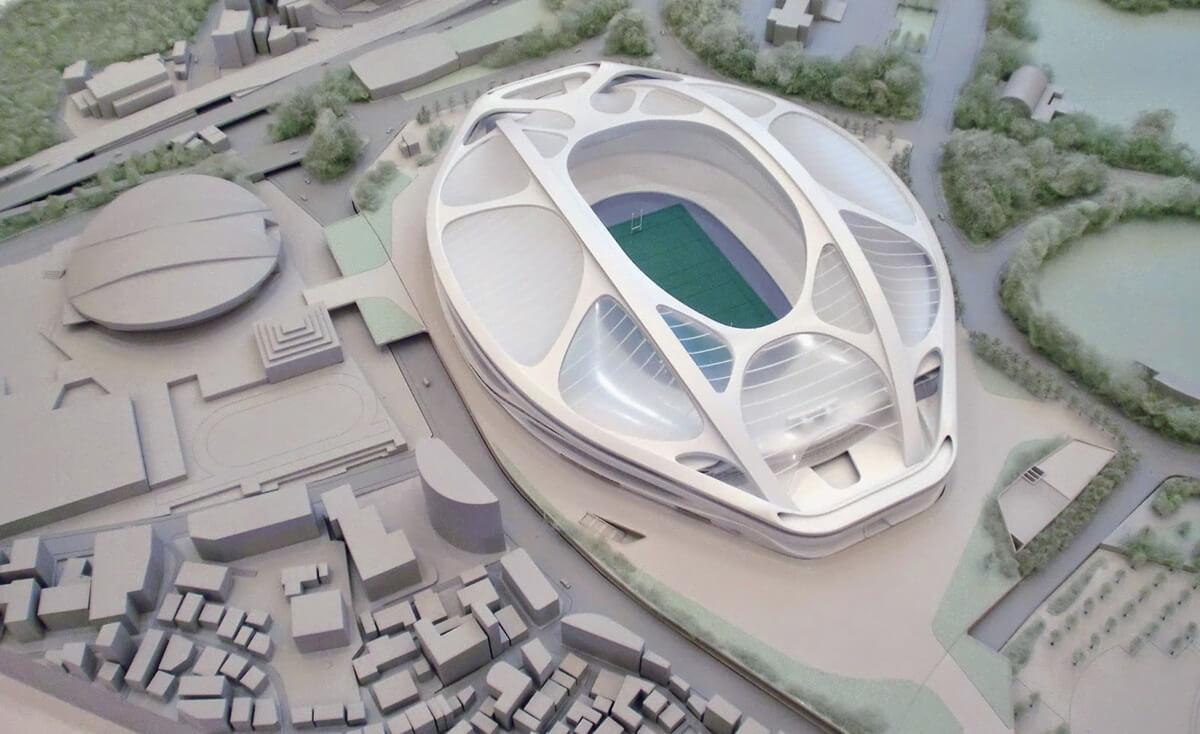 新国立競技場 模型 ジオラマ NEW-NATIONAL-STADIUM-JAPAN
