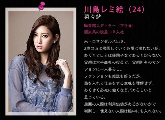 ファーストクラス 川島 レミ絵(かわしま レミえ)〈24〉菜々緒 first class (7)nanao
