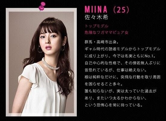 ファーストクラス MIINA〈25〉 佐々木希 first class megumi sasaki