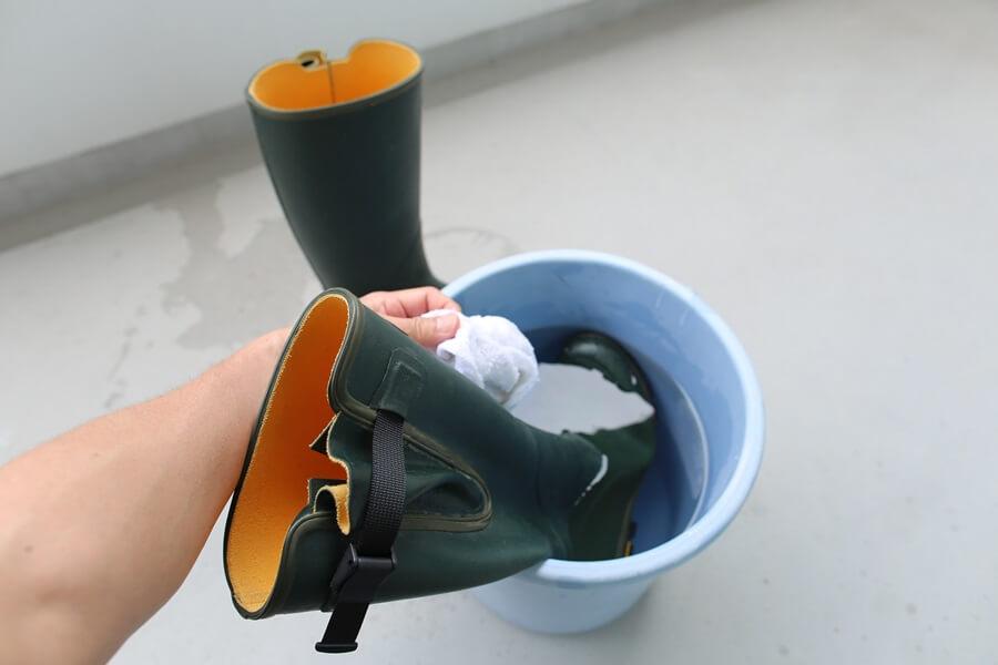 ルシャモー ラバーブーツ メインテナンス方法 Le Chameau rabber boots (1)