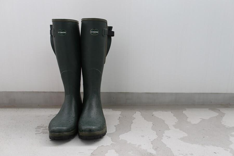ルシャモー ラバーブーツ メインテナンス方法 Le Chameau rabber boots (2)