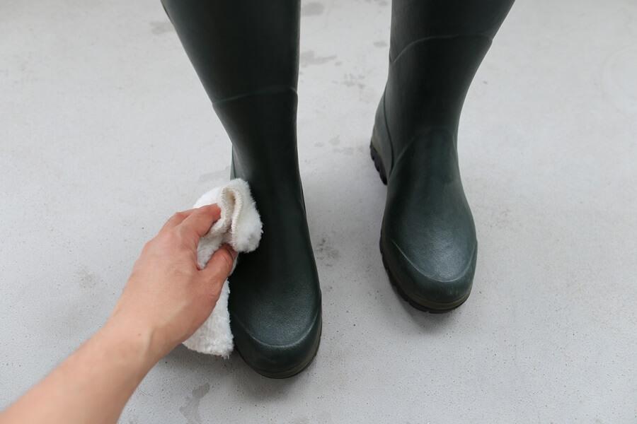 ルシャモー ラバーブーツ メインテナンス方法 Le Chameau rabber boots (4)