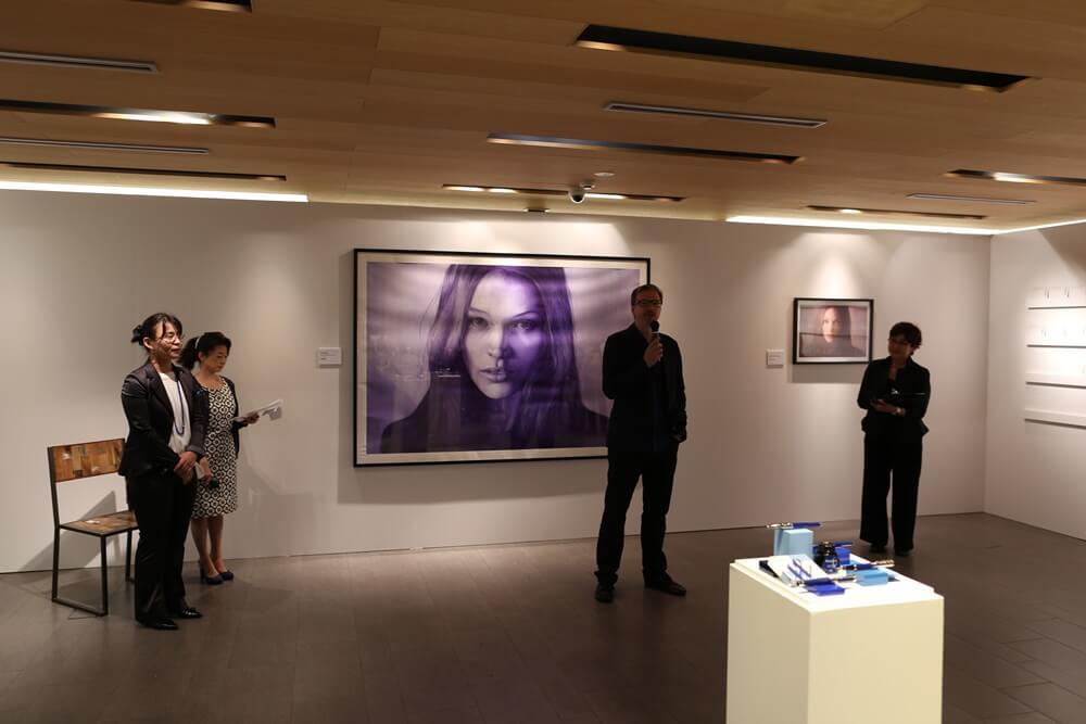 ディルク・ツィミアスキ ウォーターマン 2014年新製品 「ブルーオブセッション」コレクション 発売記念イベント WATERMAN Blue Obsession Tokyo Exhibition Dirk Dzimirsky  (2)
