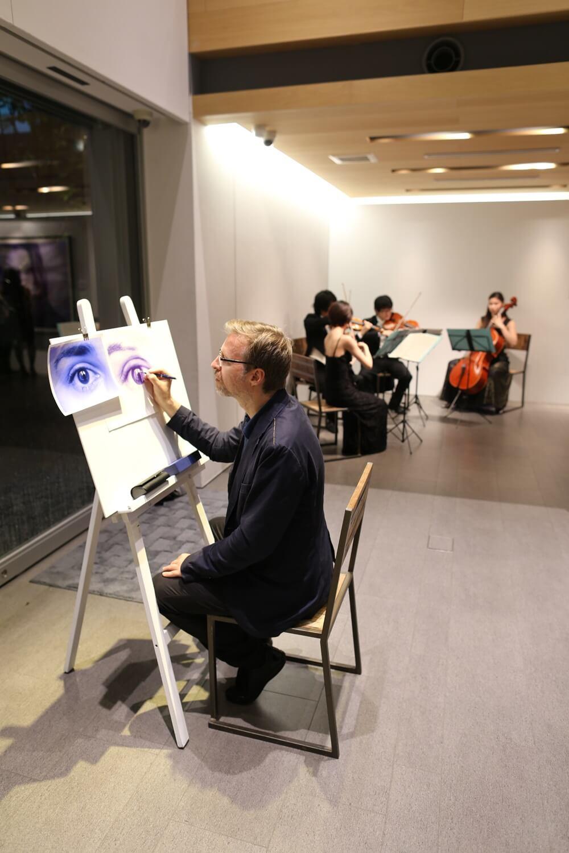 ディルク・ツィミアスキ ウォーターマン 2014年新製品 「ブルーオブセッション」コレクション 発売記念イベント WATERMAN Blue Obsession Tokyo Exhibition Dirk Dzimirsky  (5)