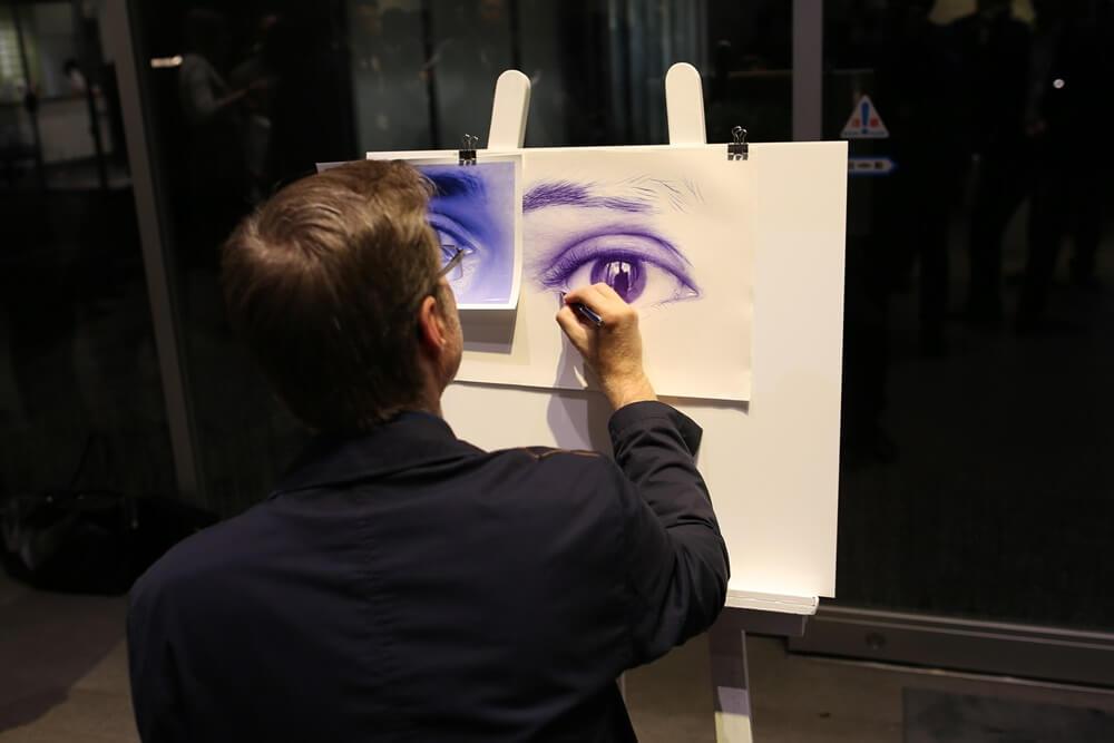 ディルク・ツィミアスキ ウォーターマン 2014年新製品 「ブルーオブセッション」コレクション 発売記念イベント WATERMAN Blue Obsession Tokyo Exhibition Dirk Dzimirsky  (6)