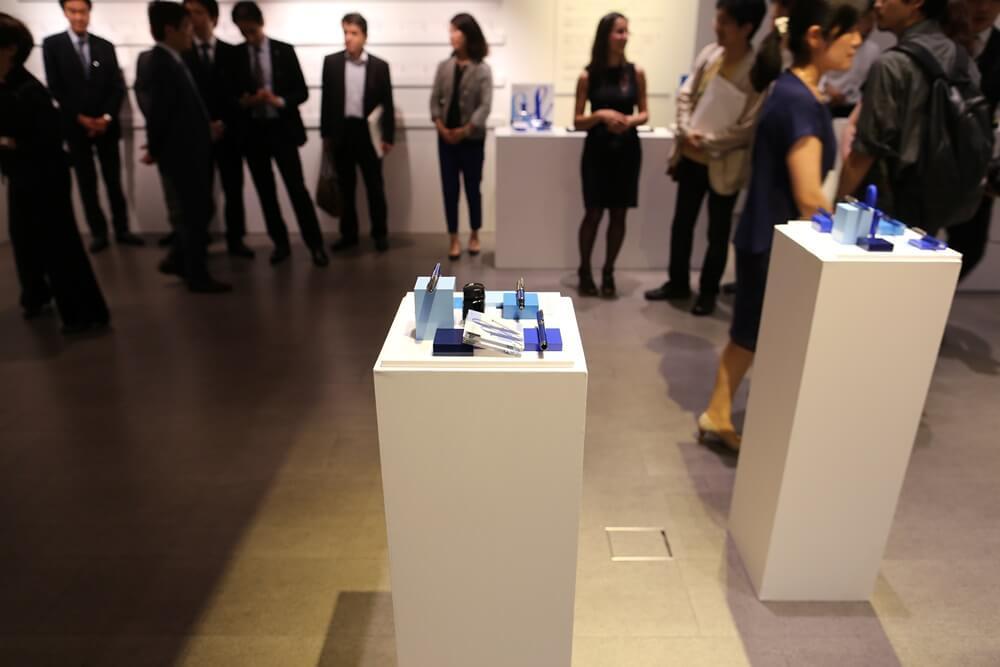 万年筆 ウォーターマン 2014年新製品 「ブルーオブセッション」コレクション 発売記念イベント WATERMAN Blue Obsession Tokyo Exhibition fountain pen (10)