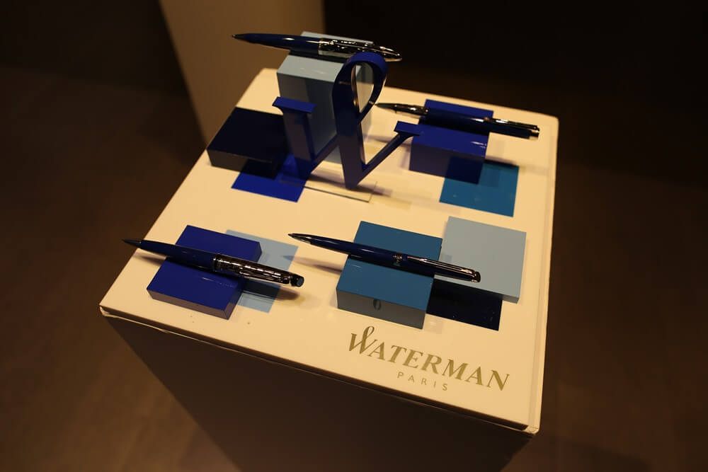 万年筆 ウォーターマン 2014年新製品 「ブルーオブセッション」コレクション 発売記念イベント WATERMAN Blue Obsession Tokyo Exhibition fountain pen (2)
