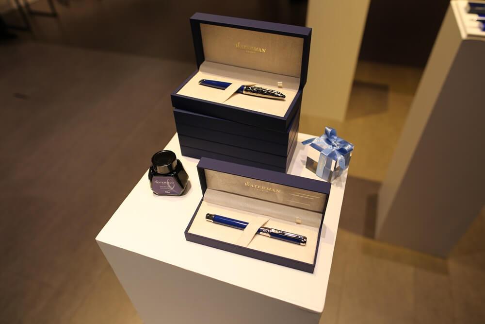 万年筆 ウォーターマン 2014年新製品 「ブルーオブセッション」コレクション 発売記念イベント WATERMAN Blue Obsession Tokyo Exhibition fountain pen (3)
