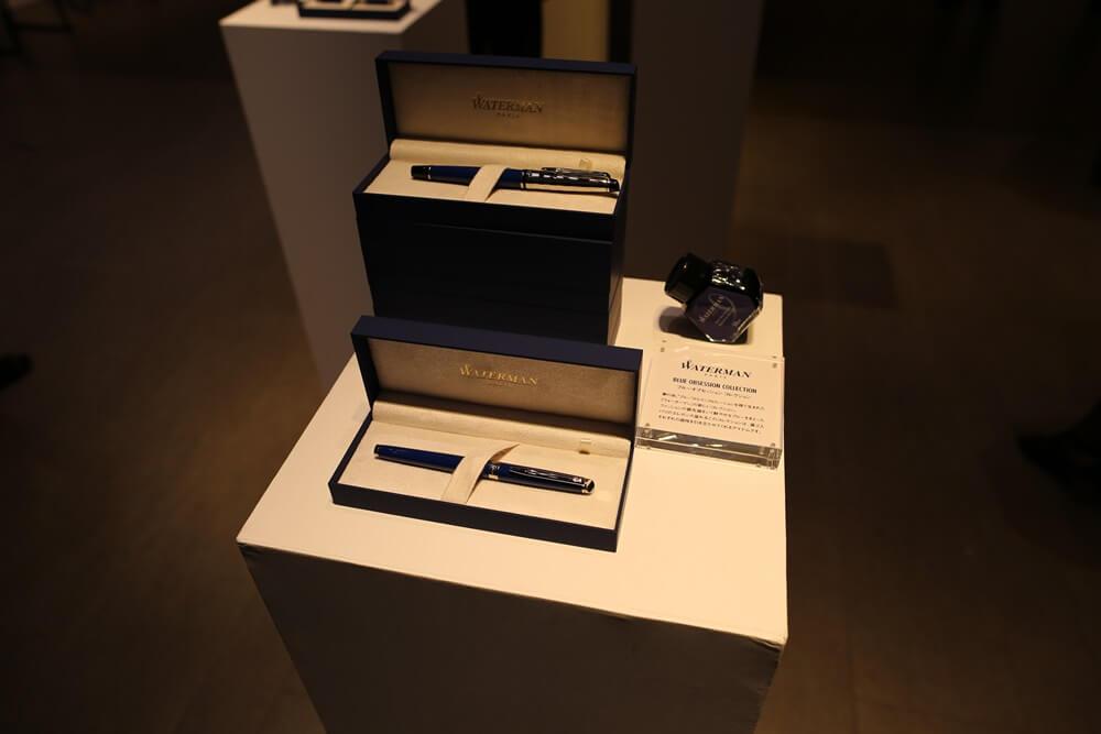 万年筆 ウォーターマン 2014年新製品 「ブルーオブセッション」コレクション 発売記念イベント WATERMAN Blue Obsession Tokyo Exhibition fountain pen (4)