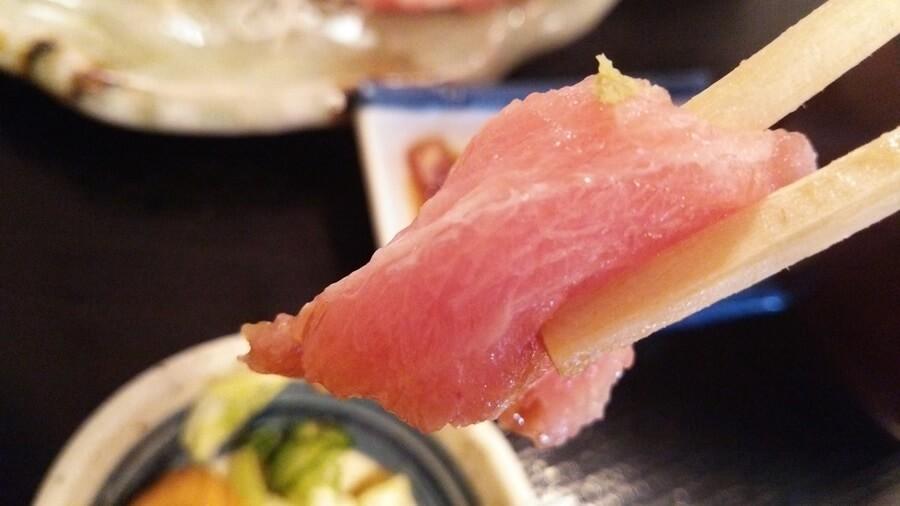 豊洲の名店『安庵』にて大トロ定食。 (5)