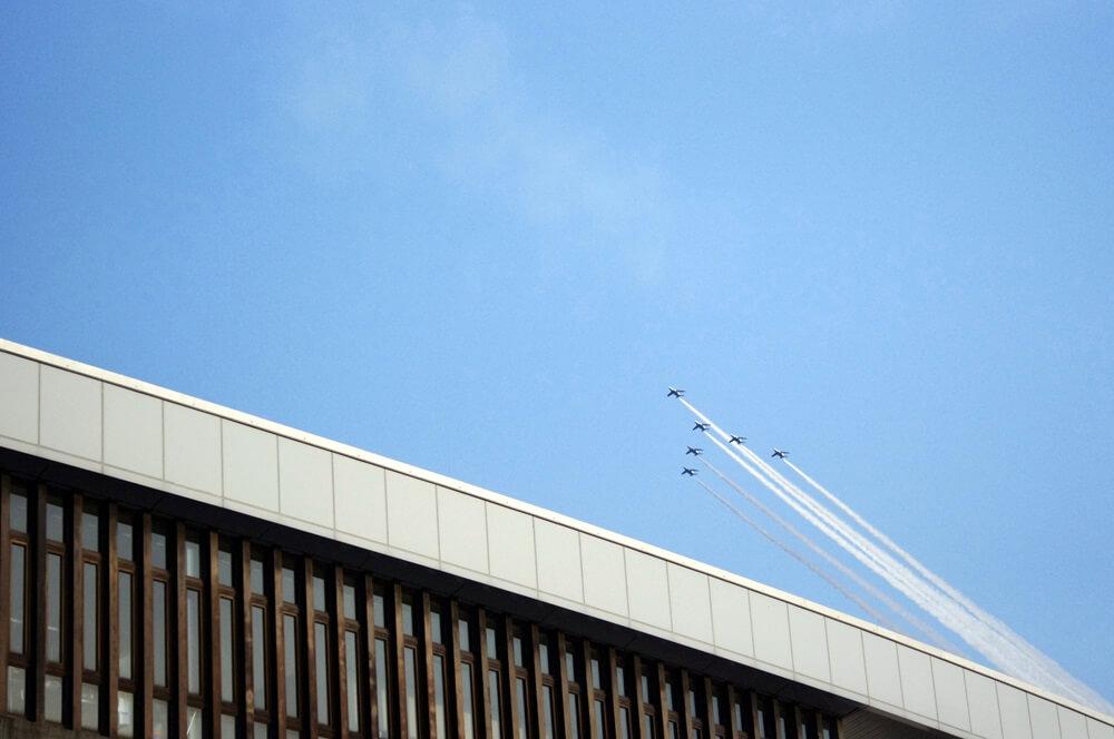 ブルーインパルス さよなら国立競技場 SAYONARA FOR FUTURE  blue inpuls and National Olympic Stadium (14)