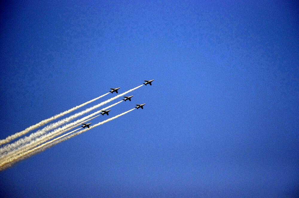 ブルーインパルス さよなら国立競技場 SAYONARA FOR FUTURE  blue inpuls and National Olympic Stadium (30)