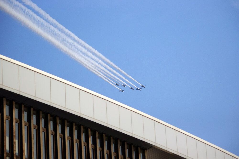 ブルーインパルス さよなら国立競技場 SAYONARA FOR FUTURE  blue inpuls and National Olympic Stadium (33)