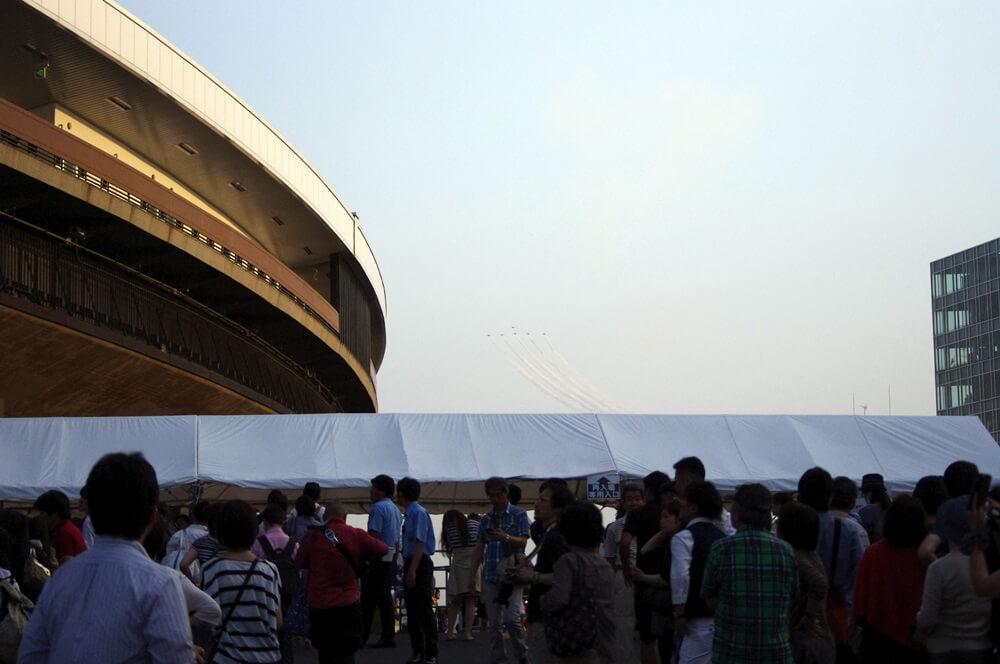 ブルーインパルス さよなら国立競技場 SAYONARA FOR FUTURE  blue inpuls and National Olympic Stadium (37)