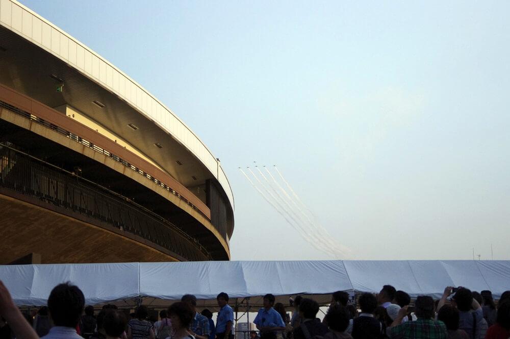 ブルーインパルス さよなら国立競技場 SAYONARA FOR FUTURE  blue inpuls and National Olympic Stadium (40)