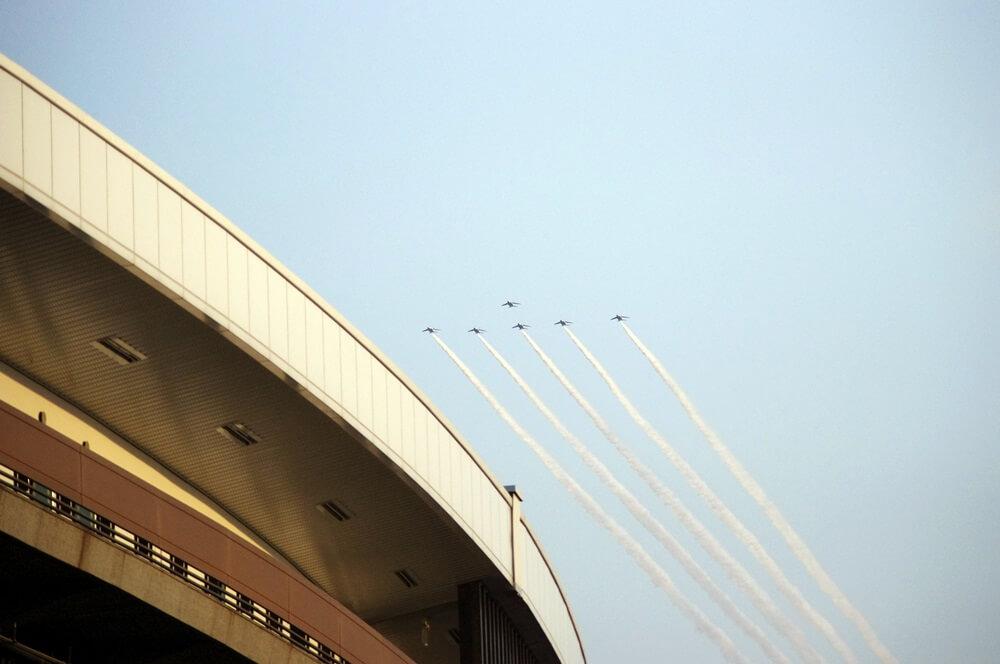 ブルーインパルス さよなら国立競技場 SAYONARA FOR FUTURE  blue inpuls and National Olympic Stadium (41)
