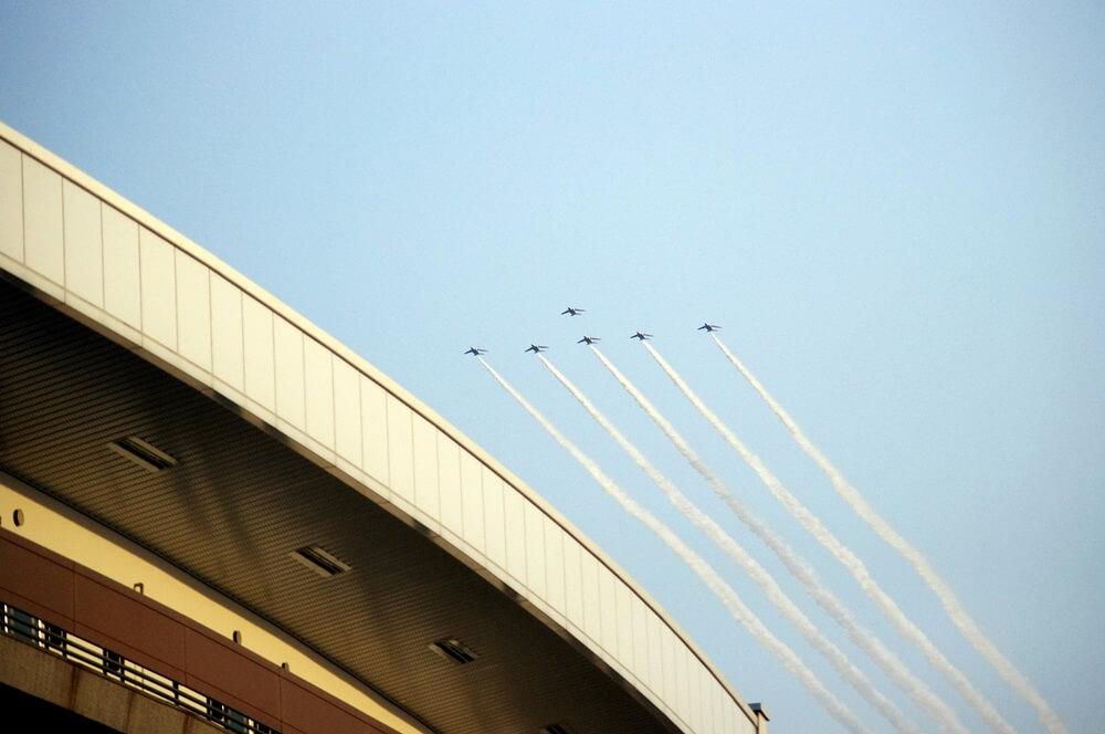 ブルーインパルス さよなら国立競技場 SAYONARA FOR FUTURE  blue inpuls and National Olympic Stadium (42)