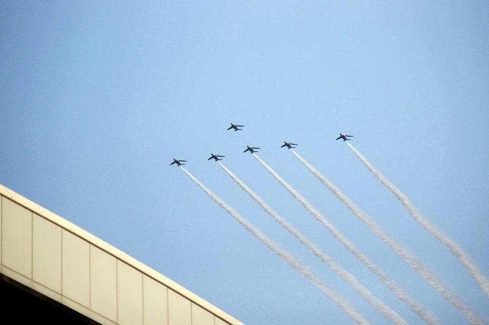 ブルーインパルス さよなら国立競技場 SAYONARA FOR FUTURE  blue inpuls and National Olympic Stadium (43)