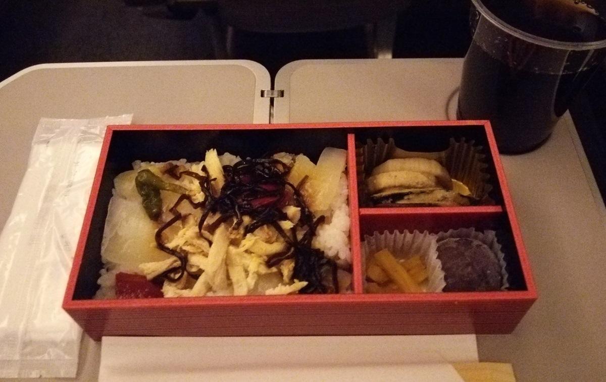 なすび亭のちらし寿司 機内食 JAL959 dinner (2)