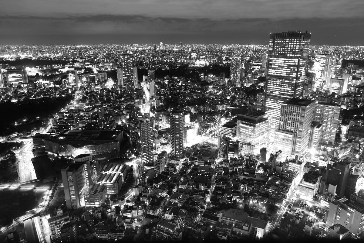 六本木ヒルズから見る東京ミッドタウン