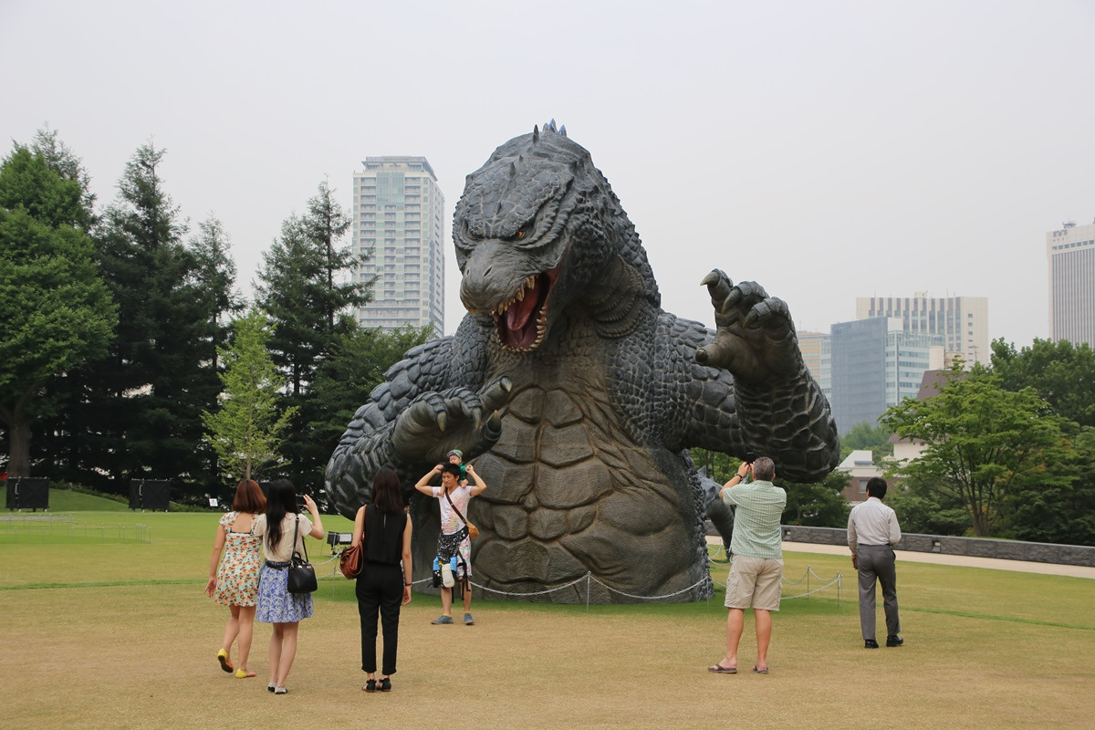 東京ミッドタウン ゴジラ tokyo midtwon GODZILLA (16)