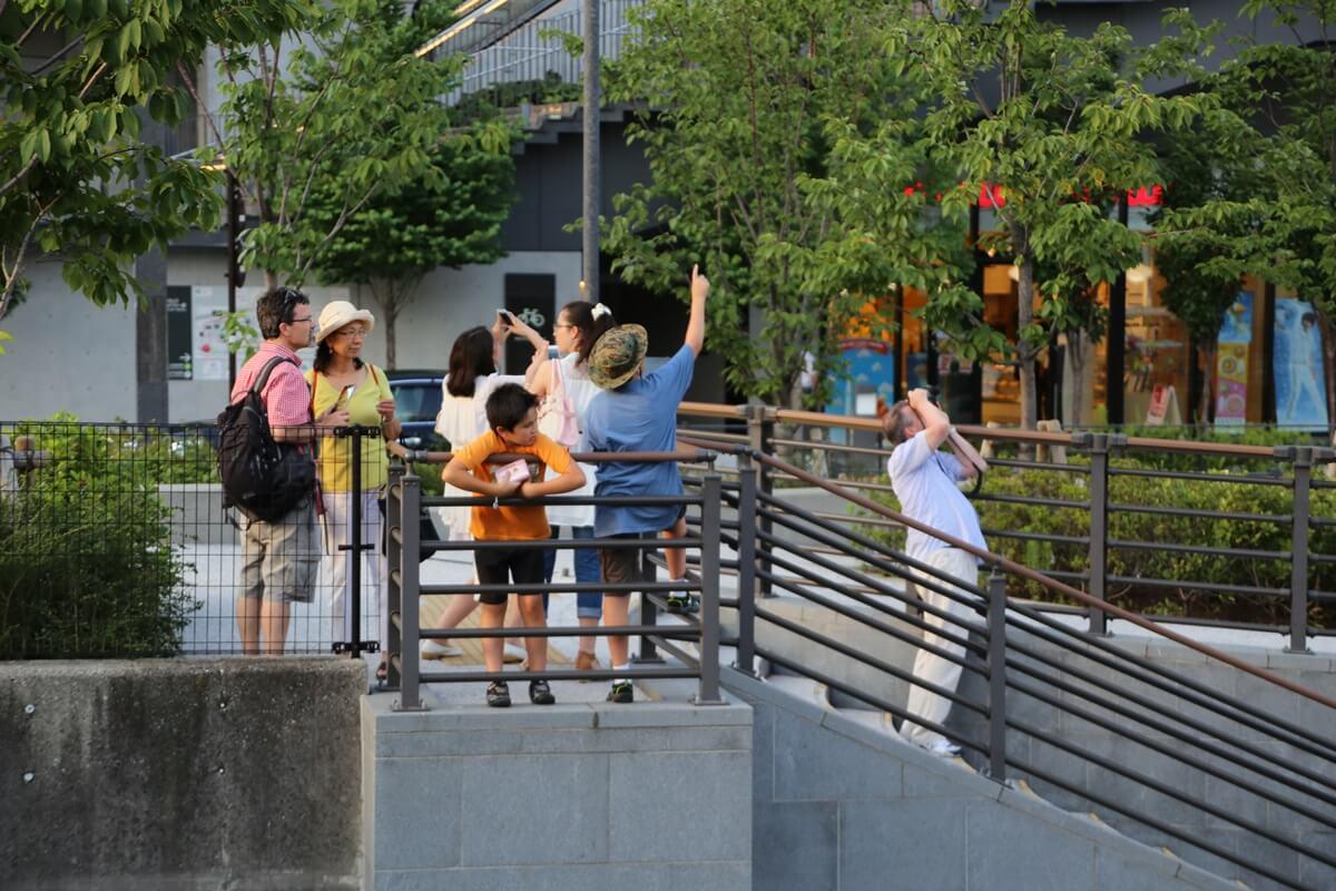 夏の東京スカイツリーを見上げる人々 tokyo skytree (10)