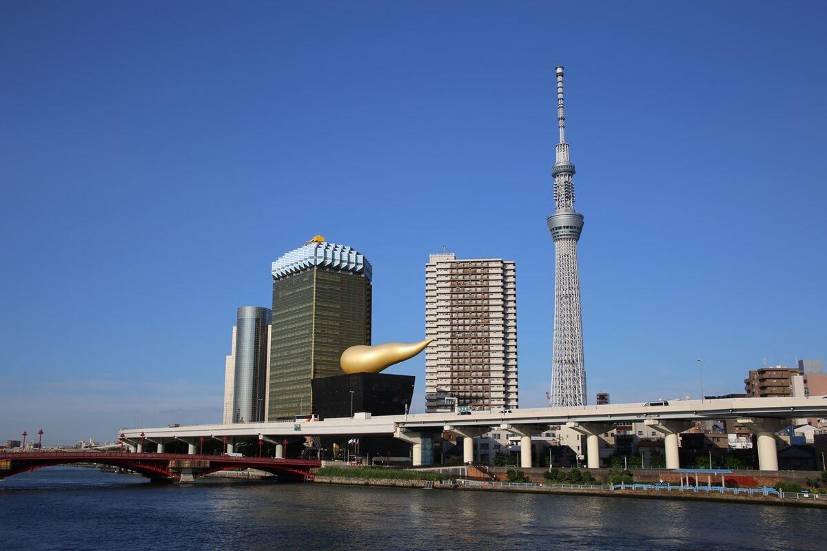 夏の東京スカイツリーとアサヒビール本社 tokyo skytree (39)
