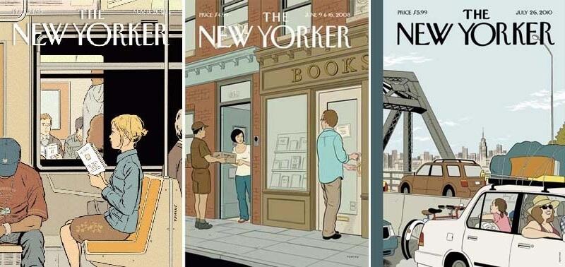 エイドリアン・トミネ ザ・ニューヨーカー表紙 Adrian Tomine's New York