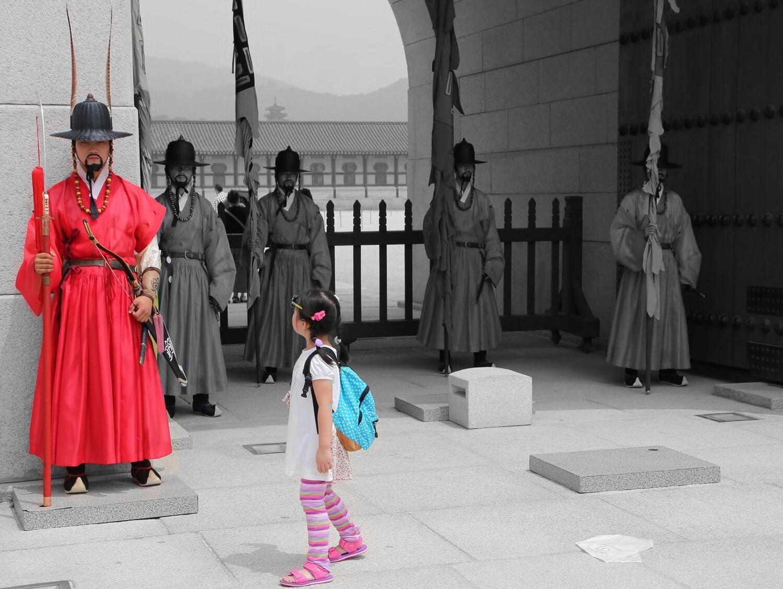 景福宮(けいふくきゅう、경복궁、キョンボックン) 光化門の守門将 Gwanghwamun sumunjang