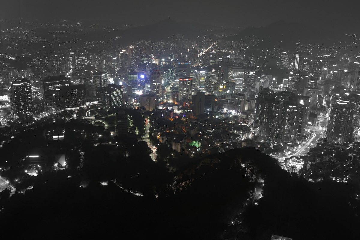 夜景 Nソウルタワー 南山 N-Seoul-tower