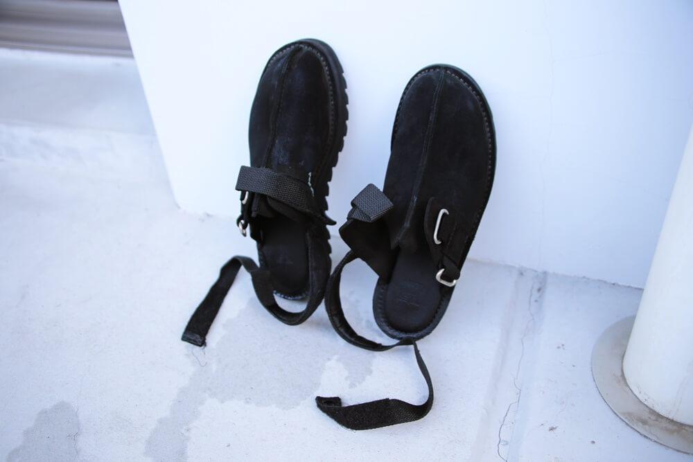 ニードルス リップルソールスエードサンダル Ripple Sole Center Seam Sandal NEEDLES