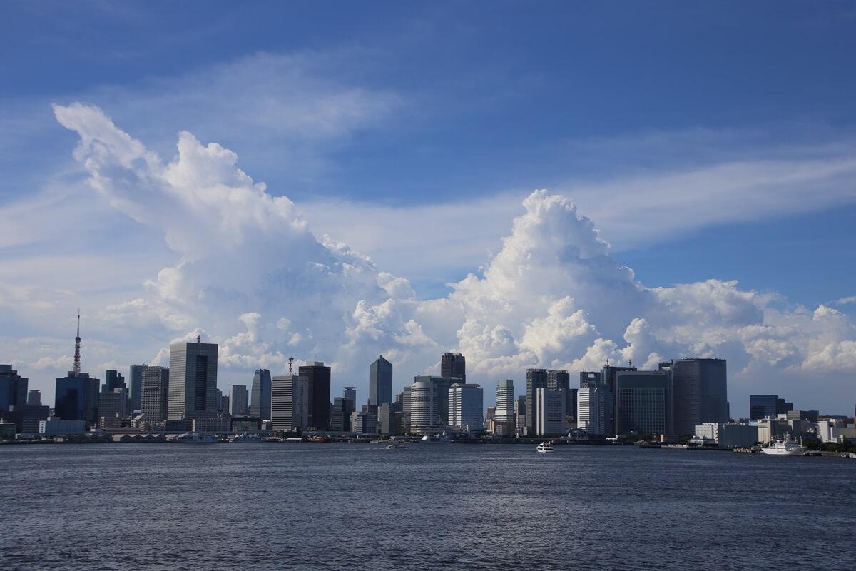 東京湾から眺める埼玉方面の積乱雲 tokyo bay cumulonimbus (11)