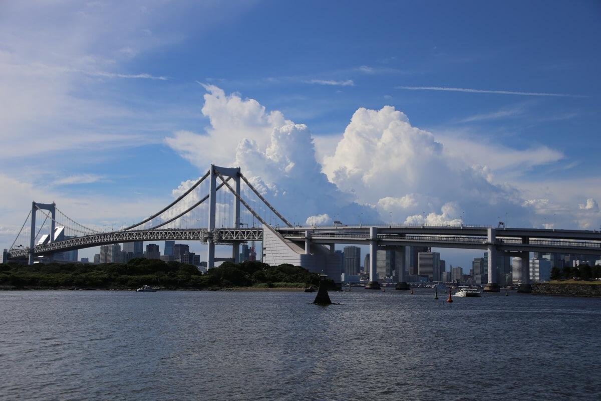 東京湾から眺める埼玉方面の積乱雲 tokyo bay cumulonimbus (14)